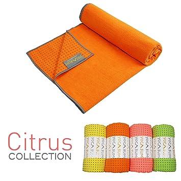 Yogabum Fruta Cítrica Coleccion Antideslizante Yoga Mat Toallas (Naranja): Amazon.es: Deportes y aire libre