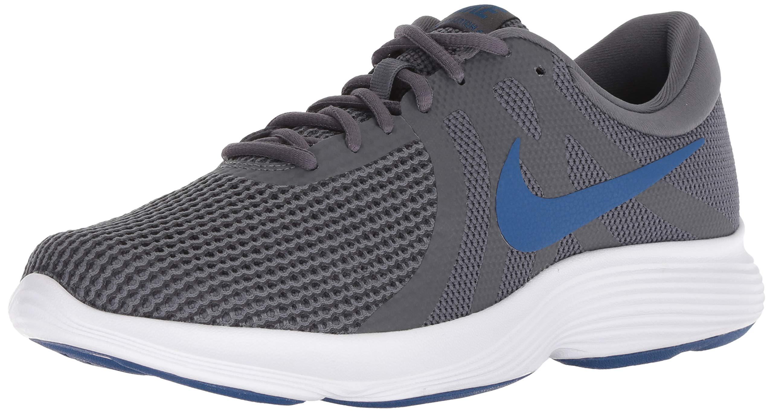 Nike Men's Revolution 4 Running Shoe, Dark Grey/Gym Blue - Anthracite, 14 Regular US by Nike