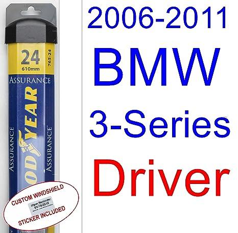 2006 – 2011 BMW Serie 3 Sedán hoja de limpiaparabrisas de repuesto Set/Kit (