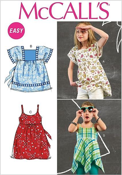McCalls M6737 - Patrones de Costura (Camisa para niña, 4 ...