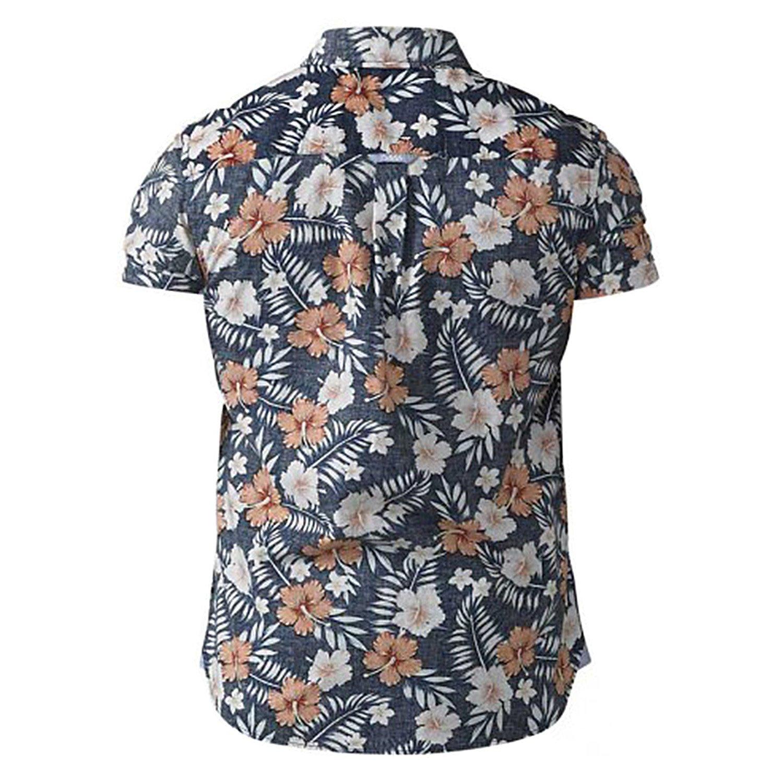 2er-Pack Baumwolle King Size Herren T-Shirt mit Rundhals Duke D555