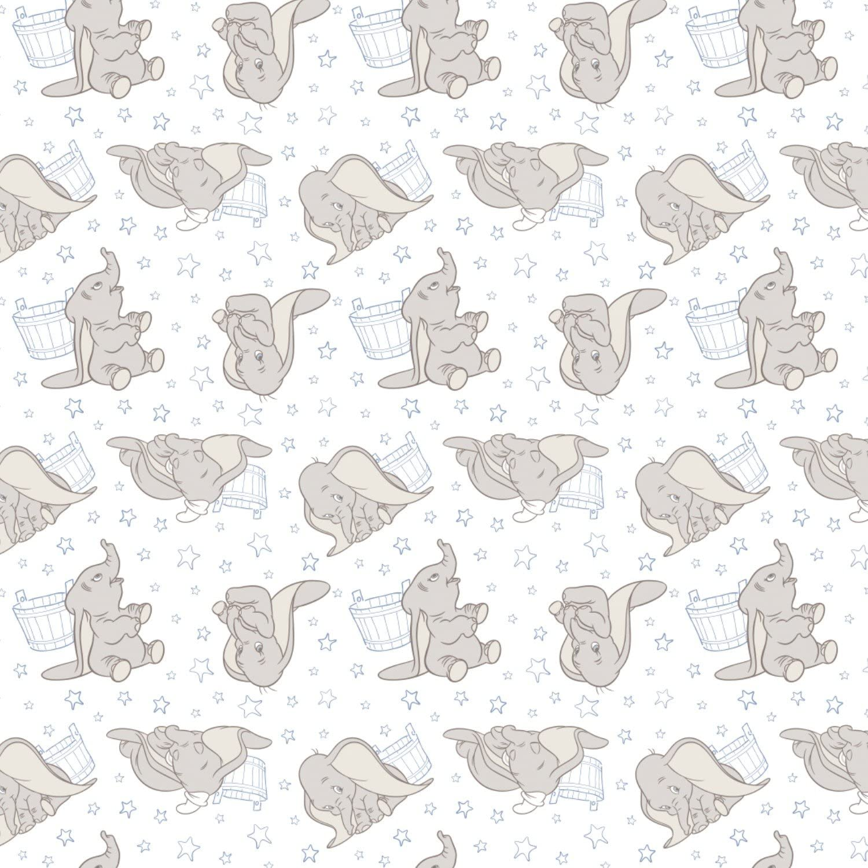 100/% algod/ón azul Tela de tela Dumbo de 0,5 m de Camelot
