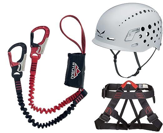 Klettersteigset Benutzen : Stubai klettersteigset connect compact tube gurt vario helm