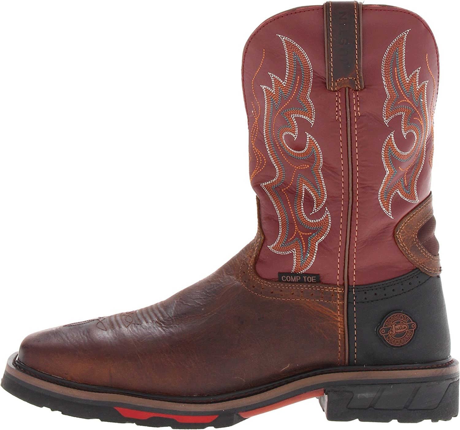 a18047cfcc5 Amazon.com | Justin Original Work Boots Men's Hybred Comp Toe Work ...