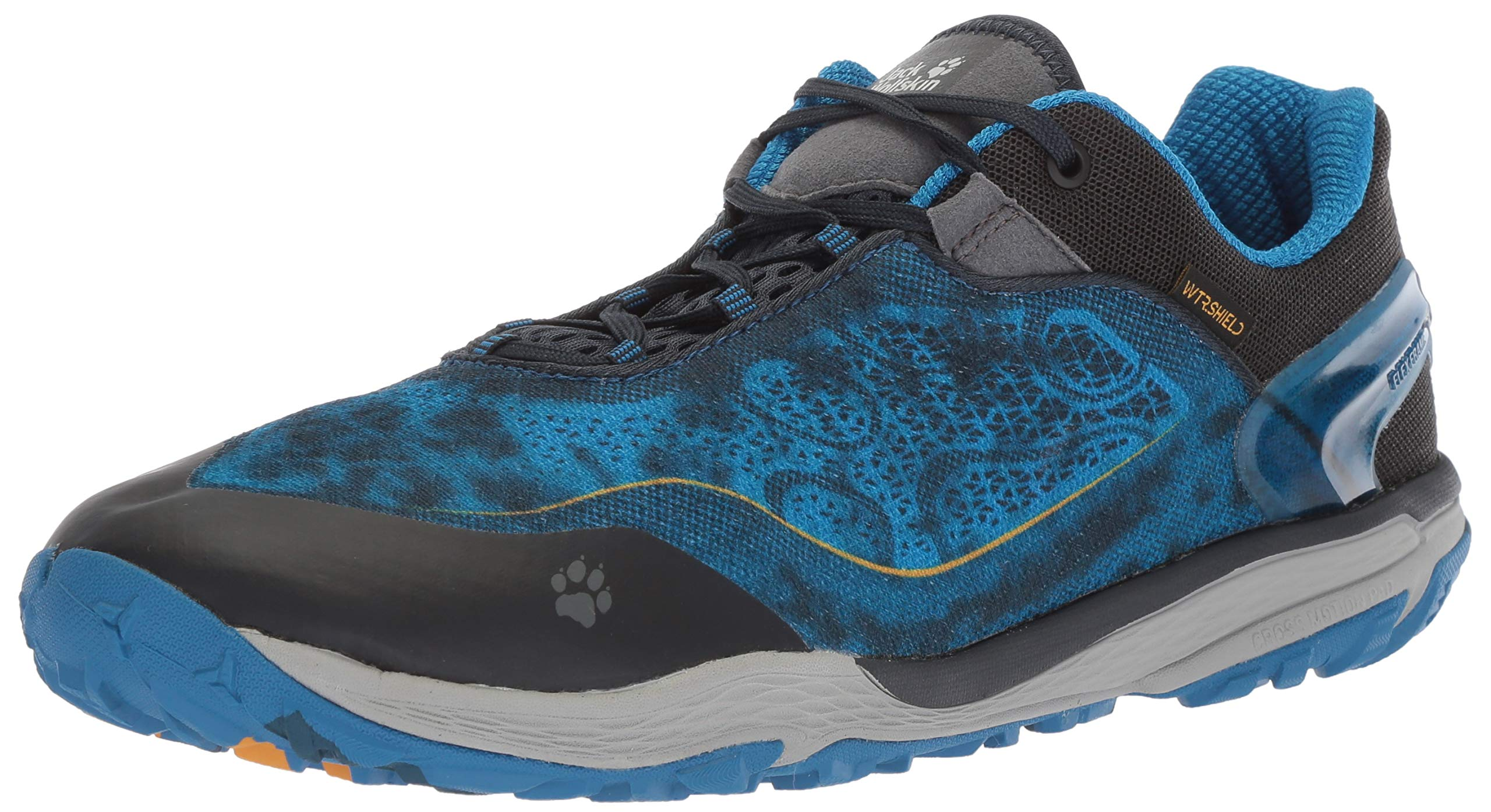 Jack Wolfskin CROSSTRAIL Shield 2 Low M Zapatillas de trail running resistentes al agua para hombre, azul eléctrico, EE. UU. Para hombre 11 D EE. UU.