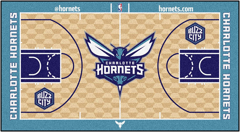 FANMATS NBA Charlotte Hornets Nylon Face NBA Court Runner-Small