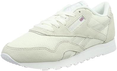 Reebok Women s Classic Nylon Fbt Low-Top Sneakers Beige  Amazon.co ... cb2b70eeb