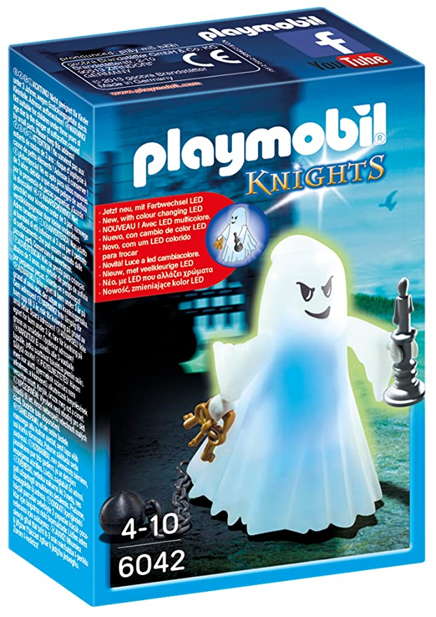 Amazon.com: PLAYMOBIL® Castle Ghost with Rainbow Led Playset Building Kit: Toys & Games