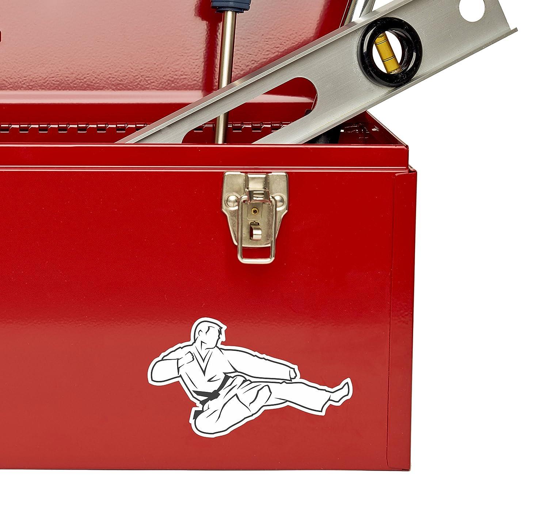 2 x Great White Shark Vinyl Sticker Laptop Travel Luggage Car #5104