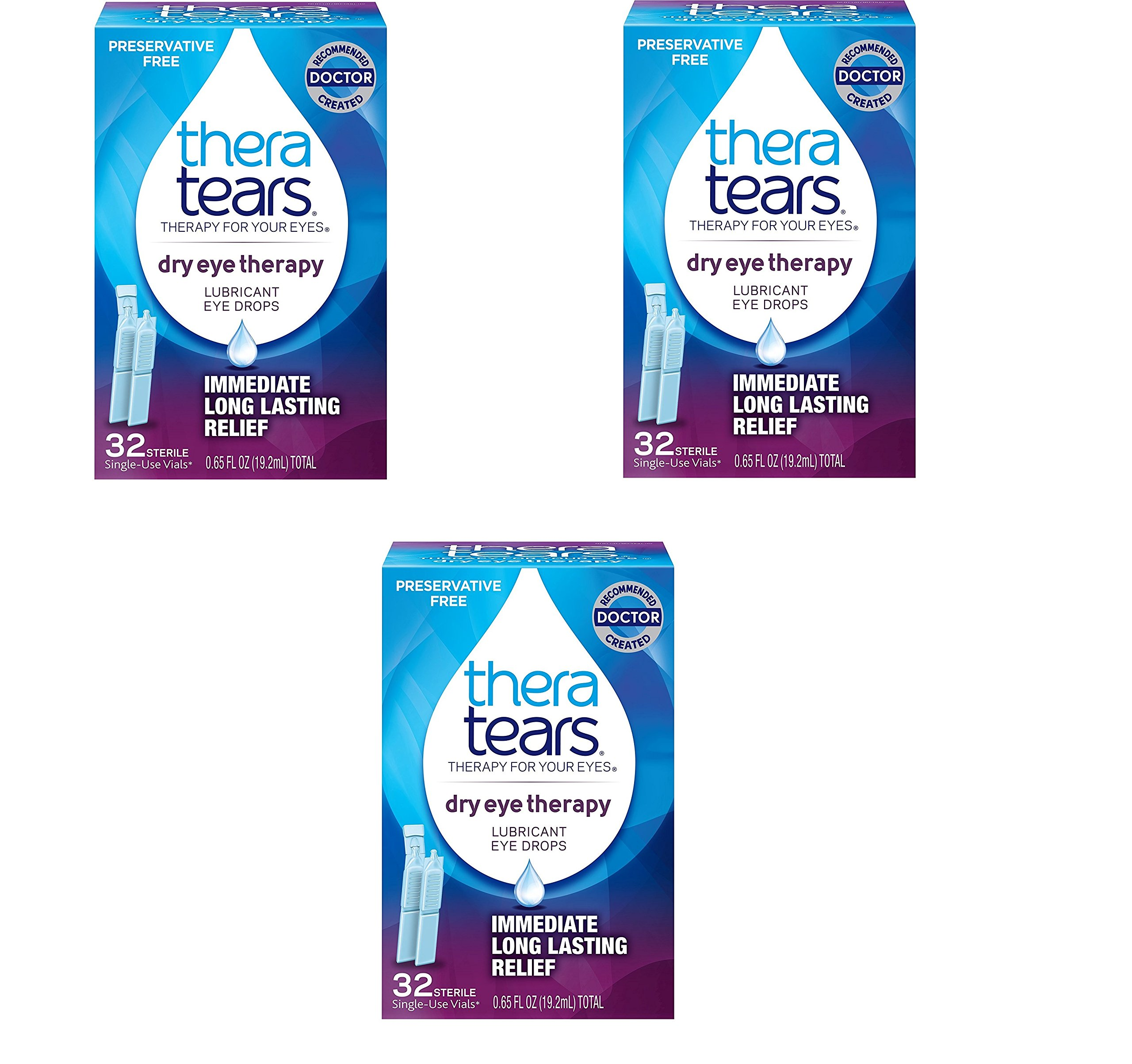 TheraTears Dry Eye Therapy- Lubricant Eye Drops- Preservative Free- 32 CT (3 Pack)