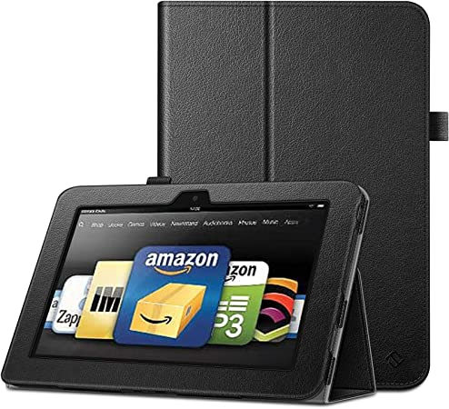 Black Auto Wake/Sleep Slim-fit Cover Case i-Blason Kindle Fire HDX ...