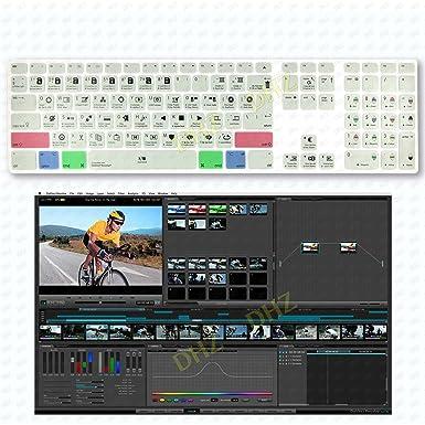 DaVinci Resolve Hotkey Silicone Keyboard Cover for Apple iMac G6 Numeric Keypad