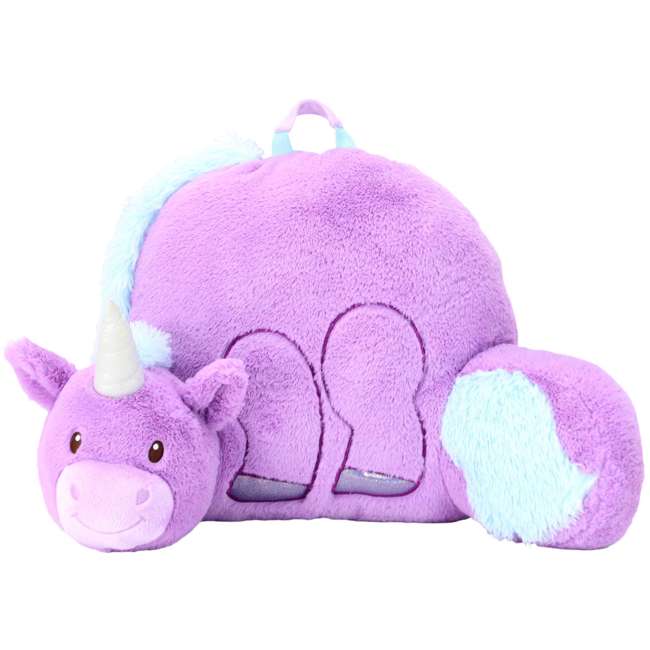 Sweet Seats Animal Adventure UnicornReading CushionLightweight & Portable Bed Rest PillowPerfect for Ages 2+