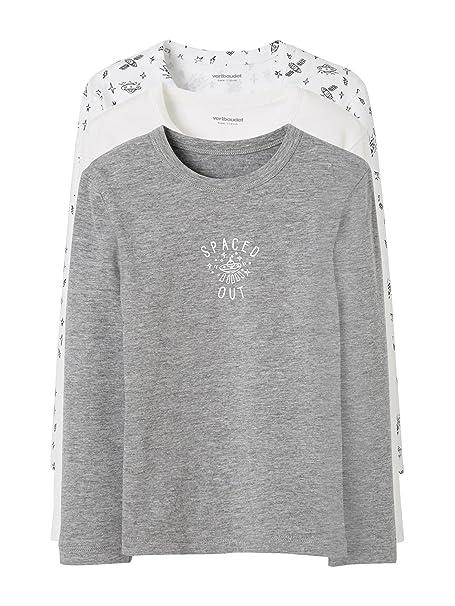 e6583af504718 VERTBAUDET Lote de 3 Camisetas Stretch niño Manga Larga  Amazon.es  Ropa y  accesorios