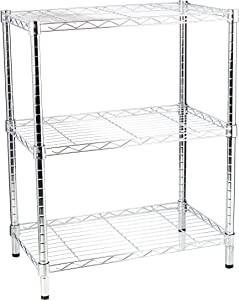 Honey-Can-Do SHF-01903 Adjustable Storage Shelving, 250-Pounds Per Shelf, Chrome, 3-Tier, 24Lx14Wx30H