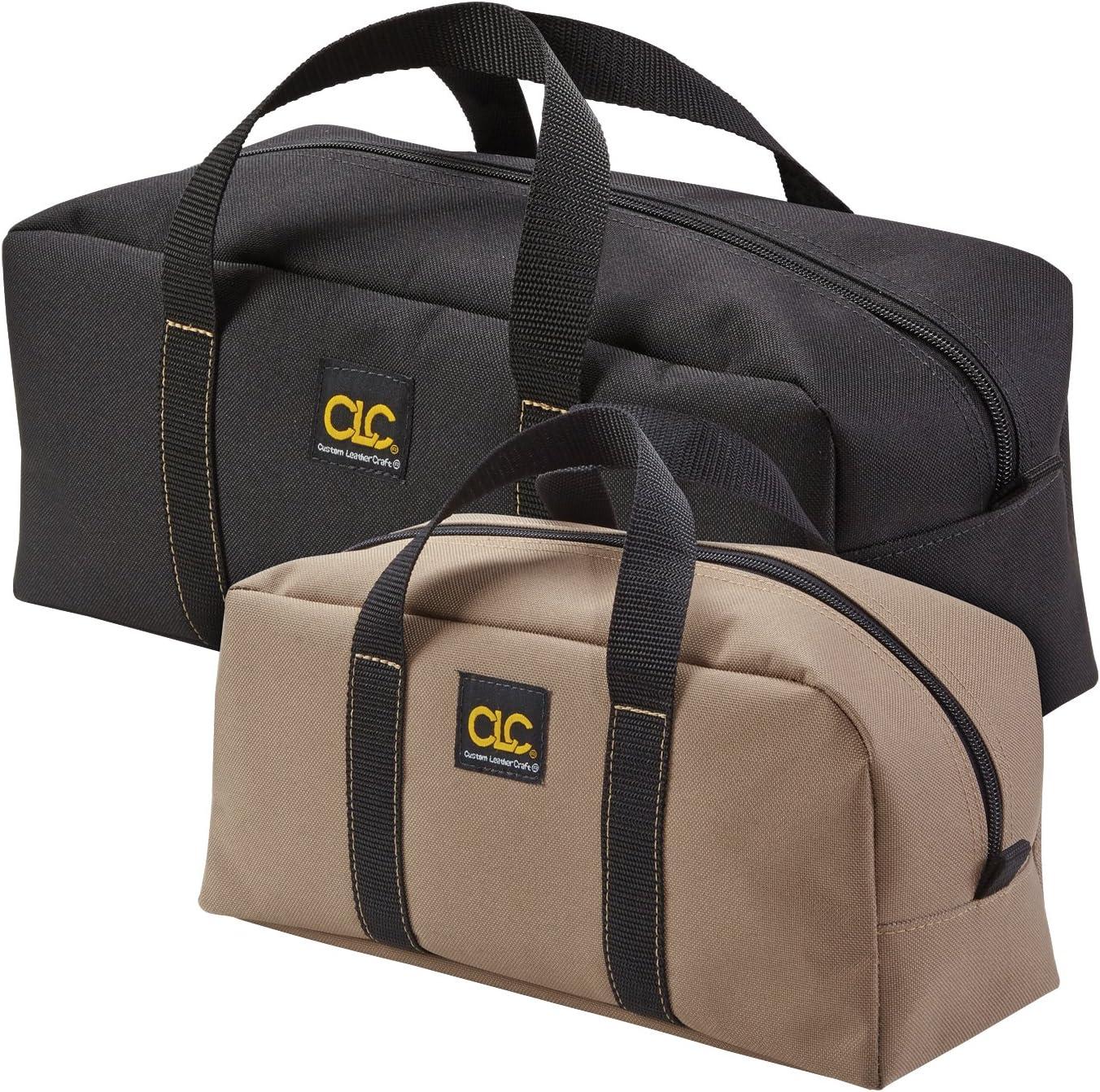 CLC Custom Leathercraft 1107 2 Pack Medium and Large Utility Tote Bag Combo, Black/Beige - Tool Bags -