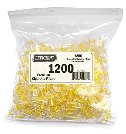 Efficace jetables cigarette Pointes Filtres, Filtre pour fumeurs – Bulk Pack économique (1200 par paquet)