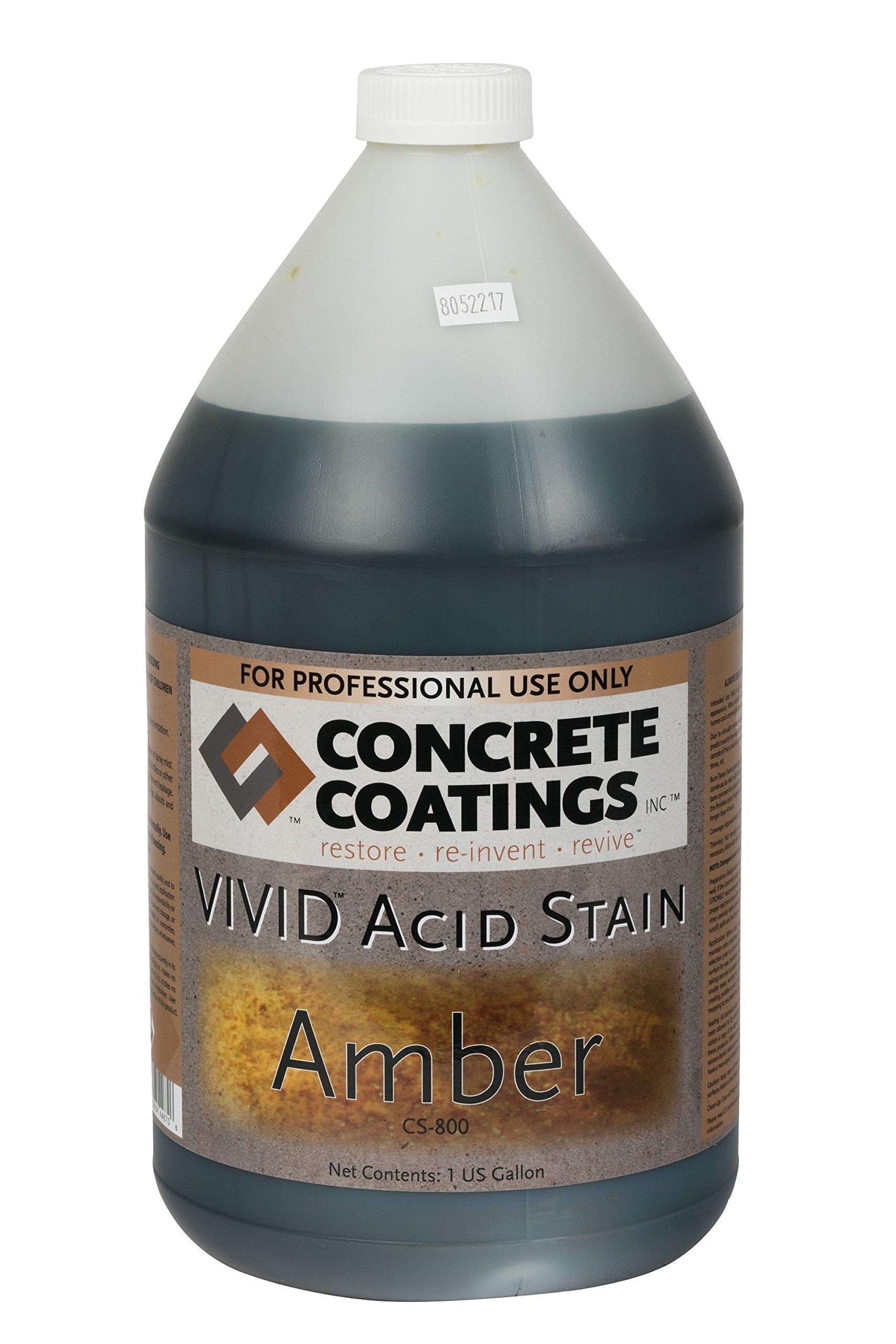 VIVID Acid Stain - 1 Gal - Amber (Slightly more Orange than Caramel)
