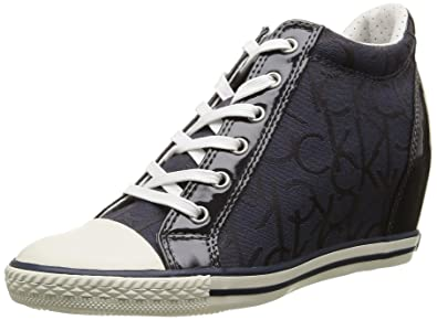 Calvin Klein JeansVero - Zapatillas Mujer, Azul (Bleu (Bbm)), 38: Amazon.es: Zapatos y complementos