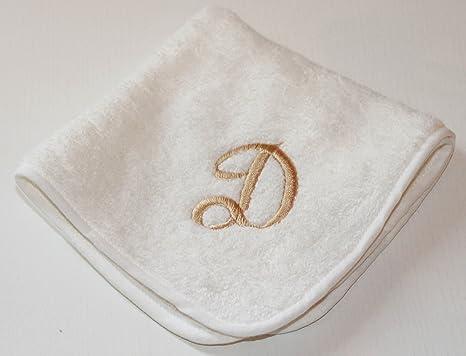 Bordados Fiorentini Idea regalo toallas con bordado inicial algodón 100% Made in Italy