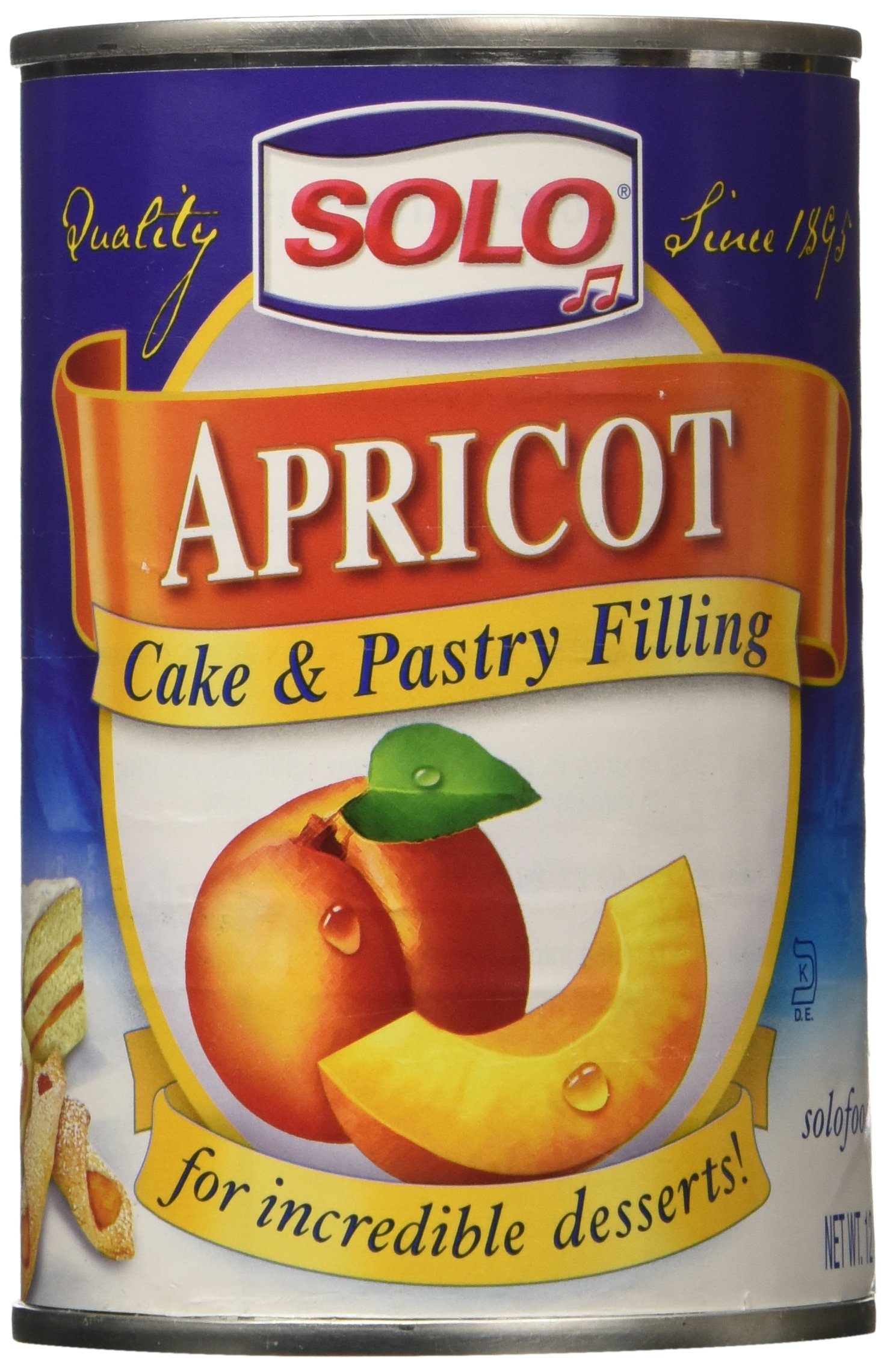 Solo Apricot Cake and Pastry Filling 12 Ounce - Pack of 2