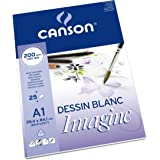 Canson Imagine Mixed Media 200gsm paper, natural white, A1 pad including 25 sheets