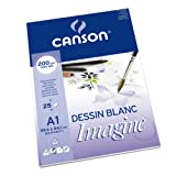 Canson 200005969 Imagine Mix-Media Papier, A1, rein weiß