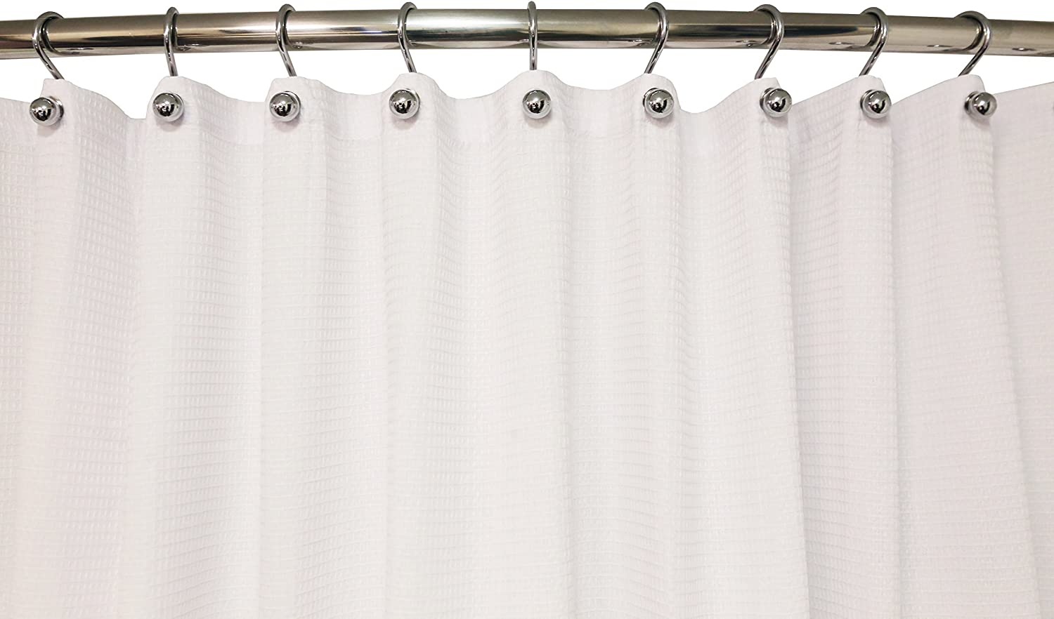 Hermosa Collection Luxury Hotel Quality Shower Curtain Hooks Silver Chrome Finish Rings S Hook 12-pk.