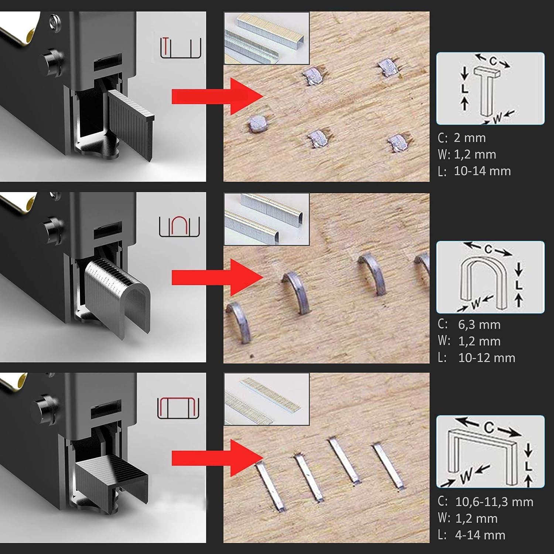 Soldela - Grapadora multifunción para pared, cables, clavos ...