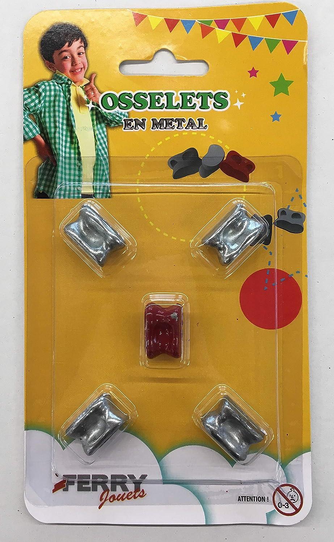 Ducale 130010719 le jeu français osselets métal-Jeu de Voyage