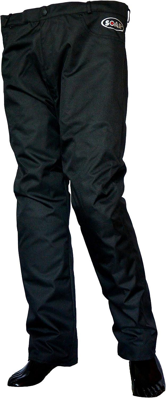 Hose aus wiederstandsf/ähigem Polyestergewebe KED SOAR Motorradhose Gr/ö/ße 4XL Monsun Schwarz