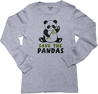 Save The Rhino Kids Boys Girls Crew Neck Long Sleeve Shirt T-Shirt for Toddlers
