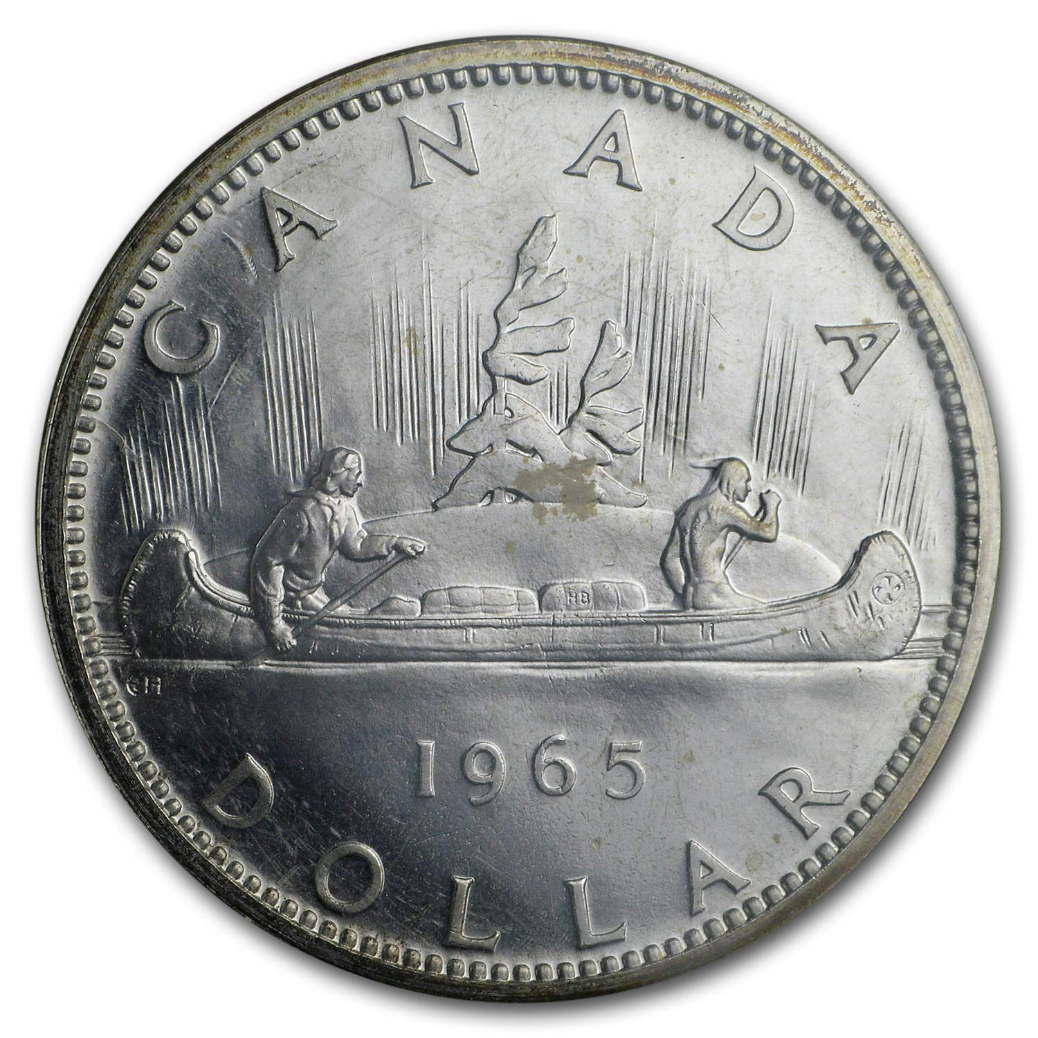 1965 CANADA QUARTER CHOICE PROOFLIKE BU FROM SET GREAT PRICE!