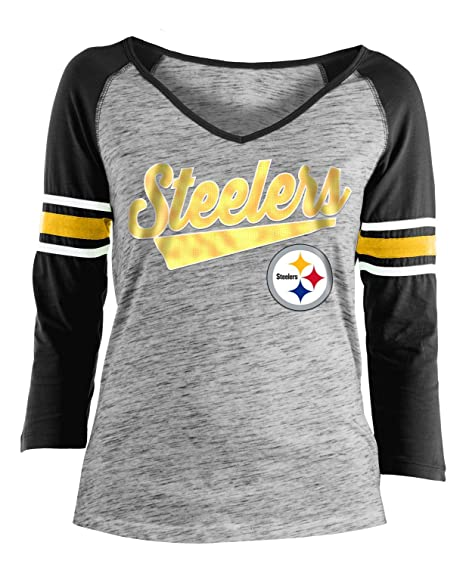 Image Unavailable. Image not available for. Color  New Era Pittsburgh  Steelers Women s NFL End Zone Space Dye 3 4 Sleeve Shirt c43dc1691