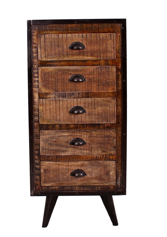 Kommode schwarz holz  SIT-Möbel 7811-04 (IRON) Kommode, Holz, natur / schwarz, 35 x 50 x ...