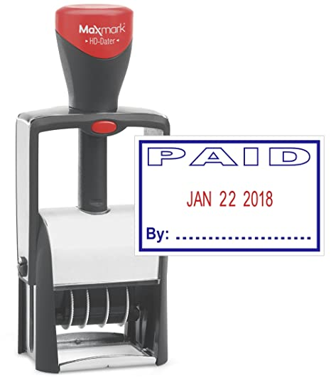 Heavy Duty Date Stamp WithquotPAIDquot Self Inking