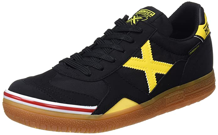 Amazon.com | MUNICH - Gresca 606 - Indoor Soccer/Futsal Shoe - Black/Yellow - 9.5 | Athletic