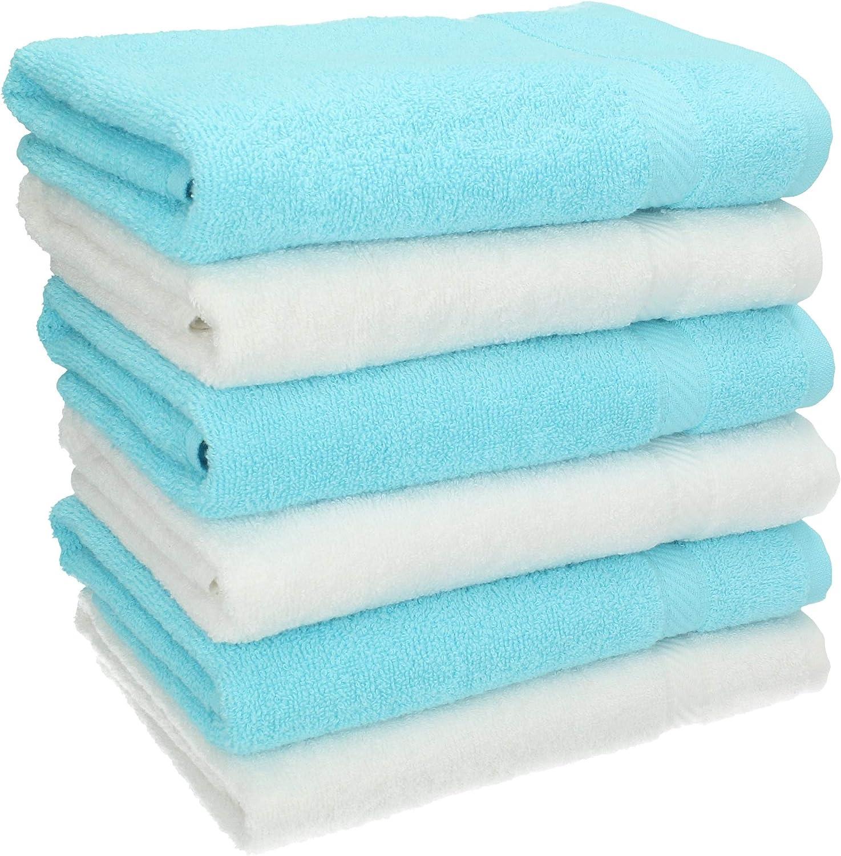 Betz Lot de 6 Serviettes de Toilette Taille 50x100 cm 100/% Coton Palermo Couleur Gris Anthracite et Rose