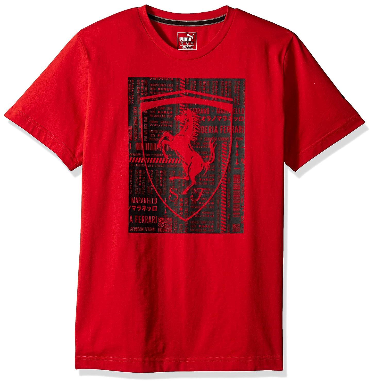 2da3b8e56 Amazon.com: PUMA Men's Ferrari Big Shield T-Shirt: Clothing