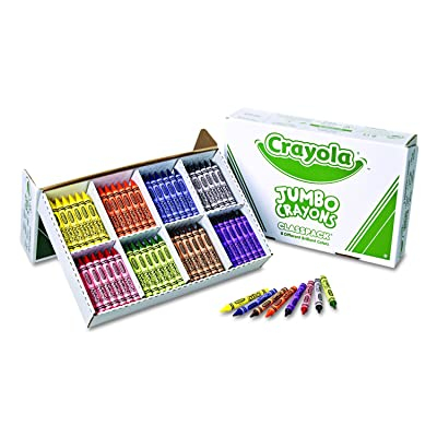 Crayola Jumbo Crayons Classpack, Toddler Crayons, 8 Colors, 200 Count, 8 Assorted (528389): Toys & Games