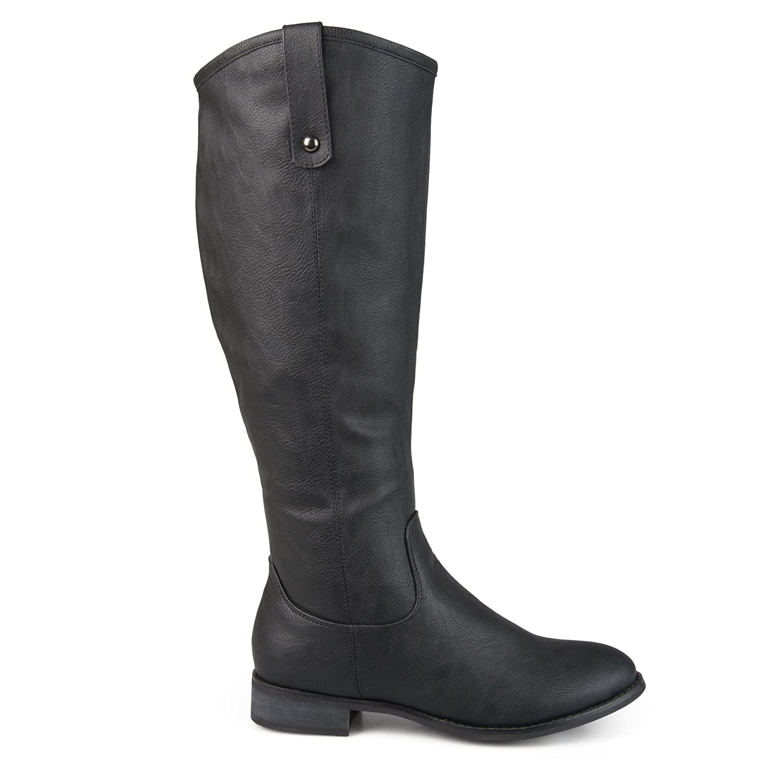 Wide and Extra Wide Calf Mid-Calf Round Toe Boots Womens Faux Leather Regular Brinley Co