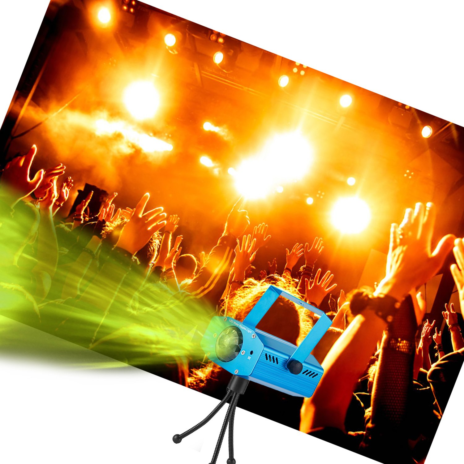 Party Projector Stage Light, PEMOTech 7-Color Ocean Wave Sound Activated Strobe Light Disco Ball Light Remote Control LED Projector Light for Party, Disco, DJ, KTV, Club, Wedding, Christmas by PEMOTech (Image #3)