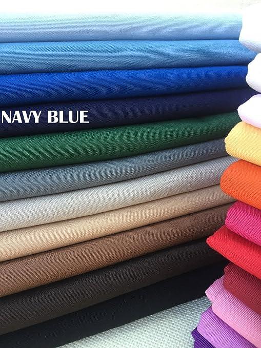 Plain otomana tela para cortinas para tapicería Material Lona de algodón de 280 cm de ancho (se vende por metros) azul marino: Amazon.es: Hogar