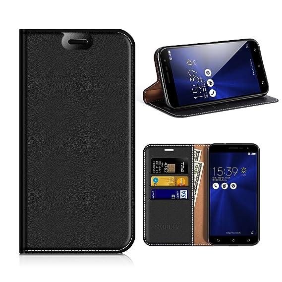 new concept 9f7ce 01dfa Asus Zenfone 3 ZE520KL Wallet Case, Mobesv Zenfone 3 ZE520KL Leather  Case/Phone Flip Book Cover/Viewing Stand/Card Holder for Asus Zenfone 3  ZE520KL, ...