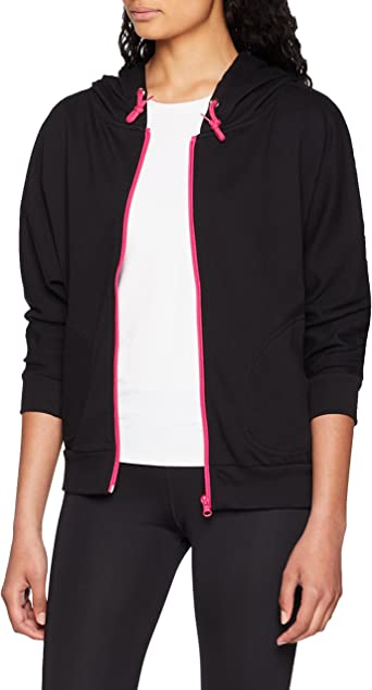 TALLA M. Urban Classics Ladies Zip Hoody Bat 3/4 Sleeve