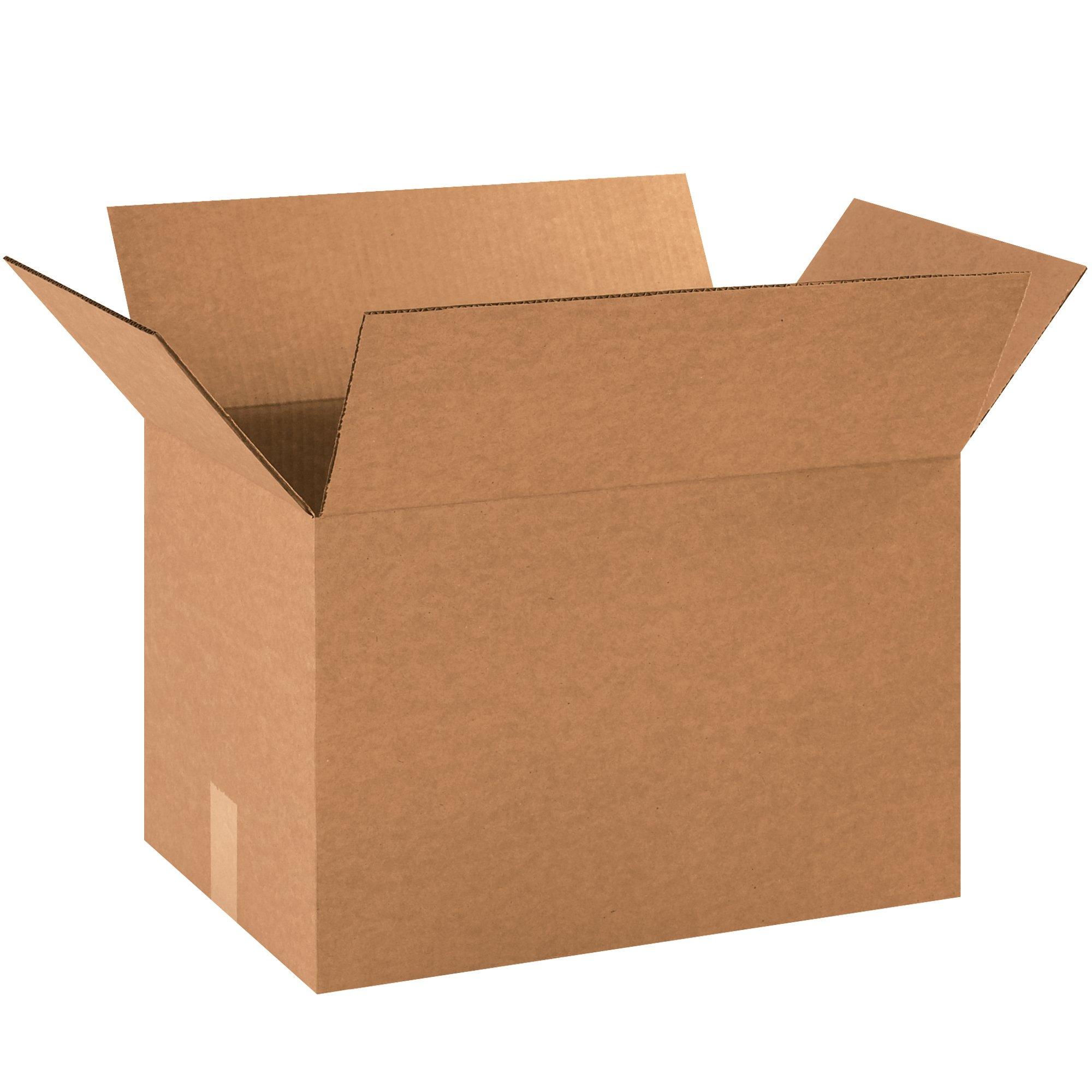 BOX USA B181212500PK Corrugated Boxes, 18''L x 12''W x 12''H, Kraft (Pack of 500)