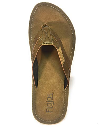 90ff2bcd052b82 Flojos Alonzo Men s Comfort Flip Flops Sandals Shoes (10 ...