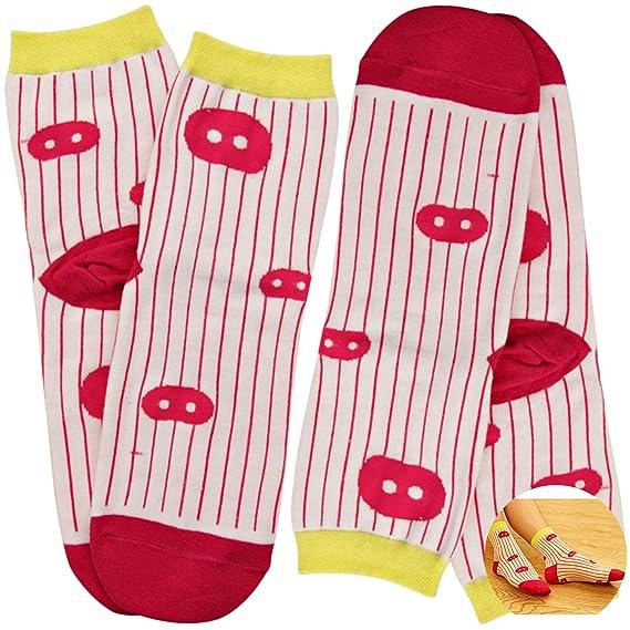 Sasairy Calcetines Mujer de Algodón Lindo Calcetines de la Historieta de Estampados de Algodon Varios Colores