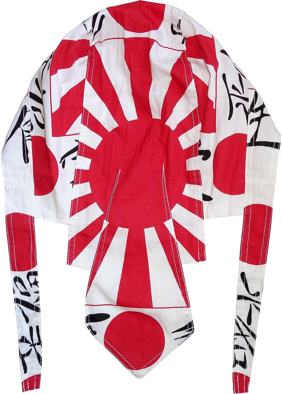 3 Japanese Rising Sun Bandanas White Red Black Dew Doo Rag