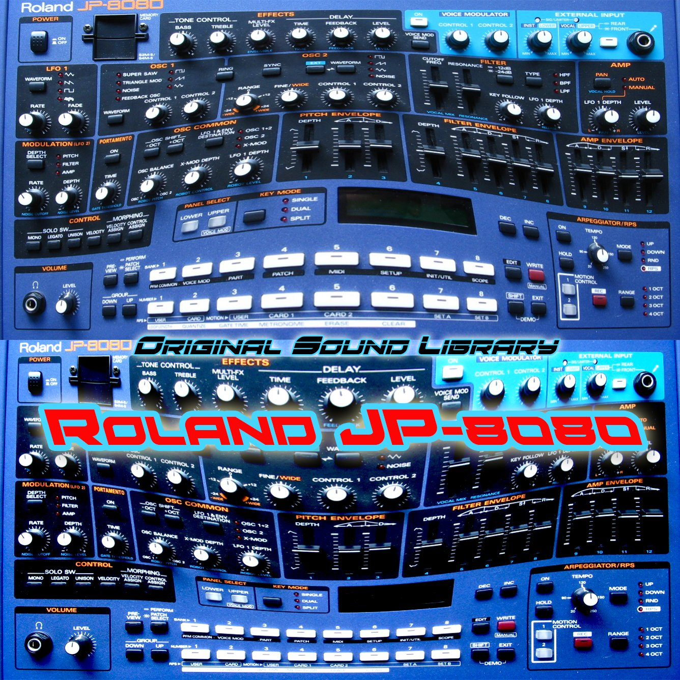 for Roland JP-8080 - the King of Dance - the very Best of - unique original Huge WAVE/Kontakt Multi-Layer Samples Library on DVD or download
